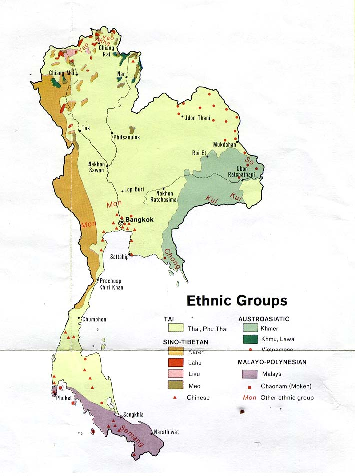 Carte Complete Thailande.File Thailand Ethnic Groups Map 1974 Jpg The Work Of God S