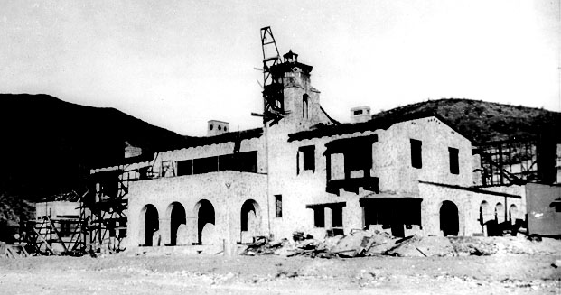 File:Scotty's Castle Under Construction in the 1930's.JPG