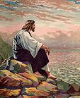 Jesus On A Mountain Alone 001.JPG