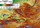 Altai Mountains - Tienschan-Orte Map 001.png